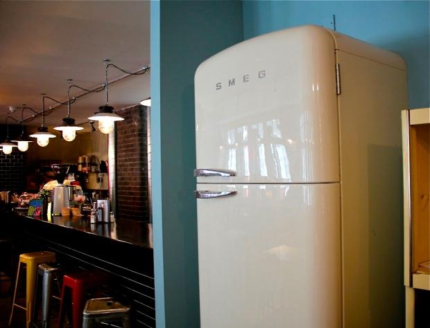 smeg fridge entrance hidden bar london