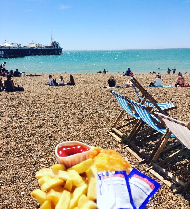 fish and chips brighton beach